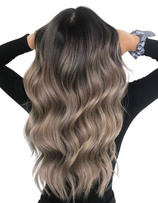 Балаяж на темно-русые волосы