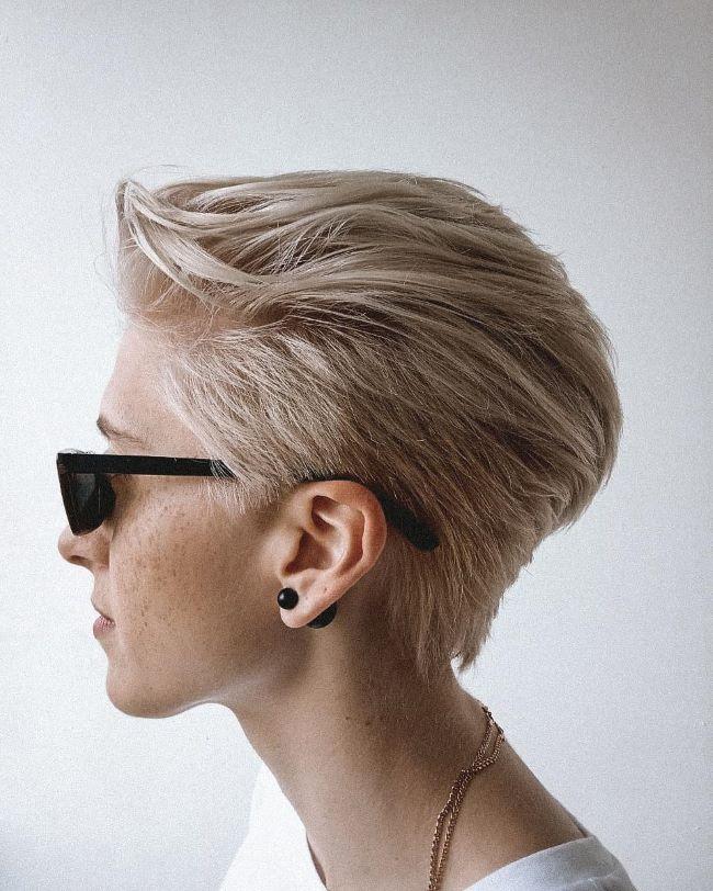 стильное пикси на светлые волосы