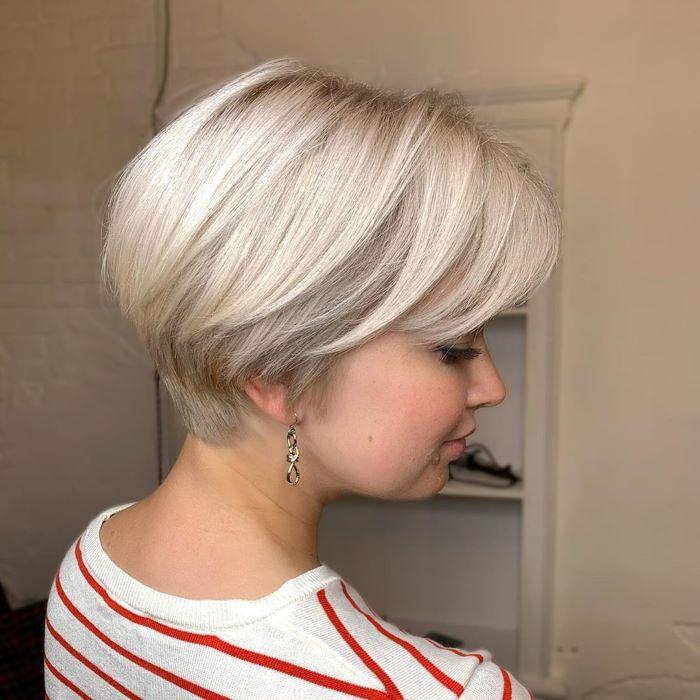 пикси боб на светлые волосы